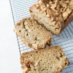 apple bread sliced