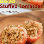 stuffed baked tomatoes halves