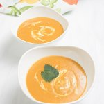 curried carrot soup with coconut