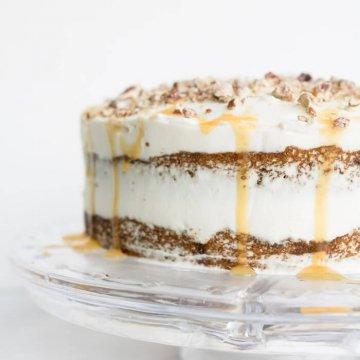 praline and pumpkin cake