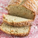 coconut banana bread sliced