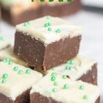 chocolate peppermint fudge with text