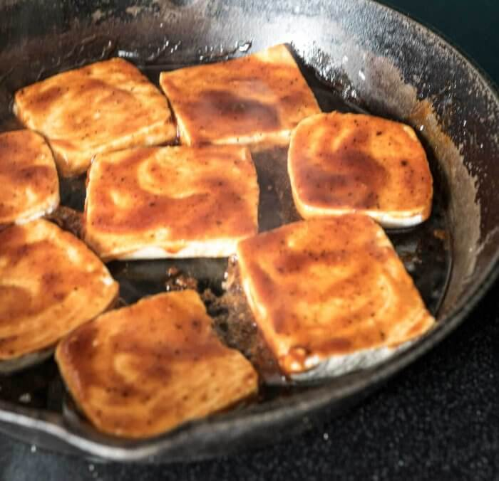 fried bbq tofu for sandwiches