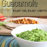 lighter guacamole with chickpea tacos