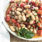 cannellini bean salad with roasted red peppers